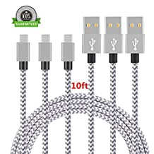 TYPE C, Asstar [3 Pack] 10FT Nylon Braided Long Cord-usb Data Charge Charging Cable for ZTE Zmax Pro Z981/Oneplus Three / OnePlus 3T/HTC Bolt/Google Pixel/Pixel XL, Nexus 6p/5X,LG G5