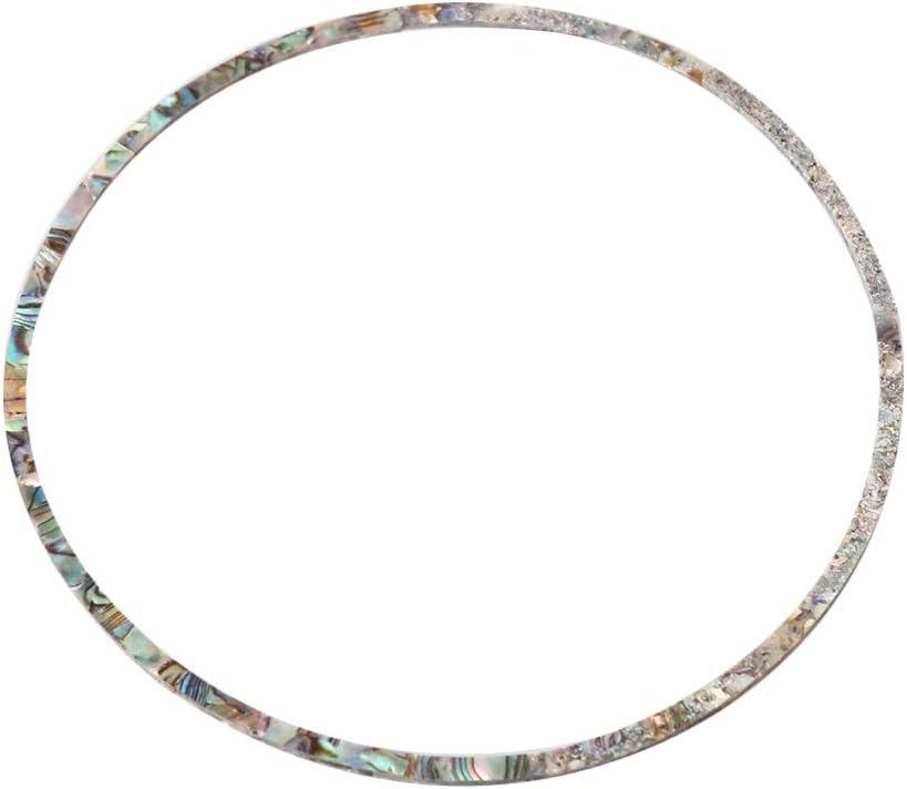 Yibuy 8pcs Abalone Curve Stripes Guitar Sound Hole Circle Inlay 115x3x1.5mm