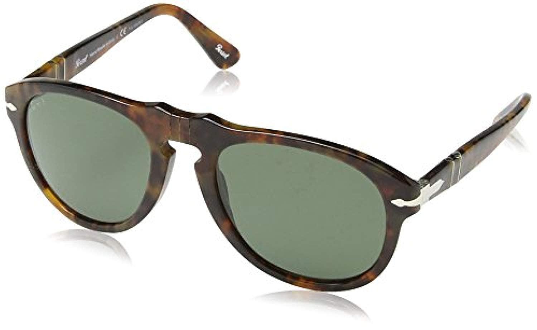1898e02f1ea01 Amazon.com  Persol Men s PO0649 Sunglasses Black Crystal Green Polarized  54mm   Cleaning Kit Bundle  Clothing