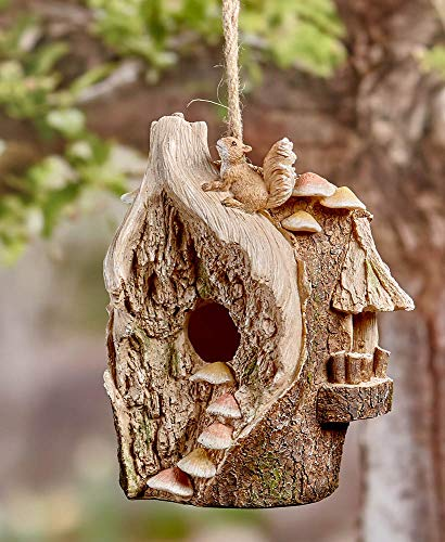 (Woodland Themed Birdhouse - Tree with Squirrel)