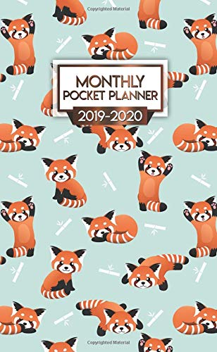 2019-2020 Monthly Pocket Planner: Nifty Red Panda Bamboo Two-Year Monthly Pocket Planner with Phone Book, Password Log and Notebook. Cute Calendar, Organizer and Agenda.