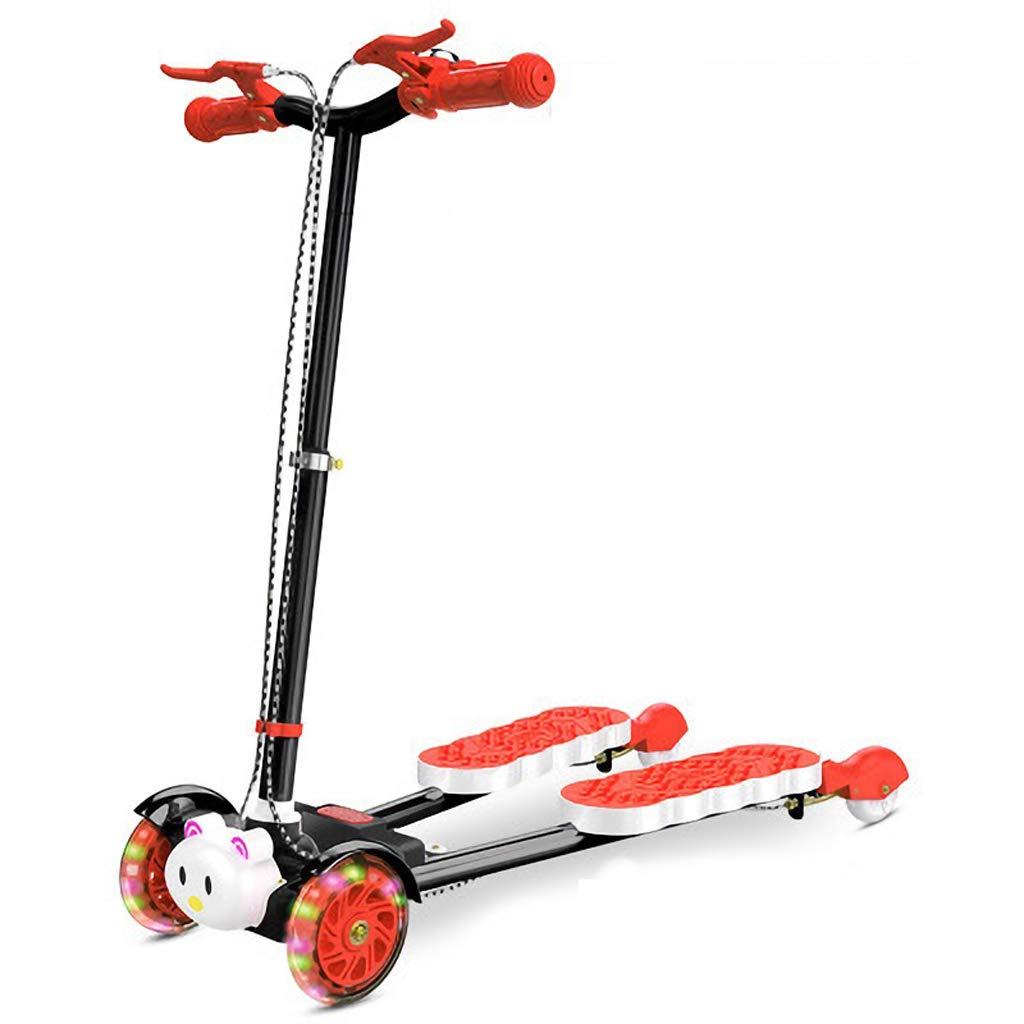 Auto zWeißFüße vier-Rad Schere Kind Kind Frosch Roller Mädchen Baby Frosch Auto Anfänger Kinderwagen geeignet für Kinder 2-12 Jahre alt (Farbe   Blau) rot