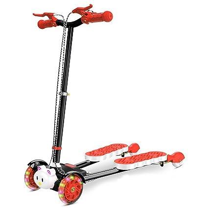 Amazon.com: Minmin - Patinete de 4 ruedas para niños con ...