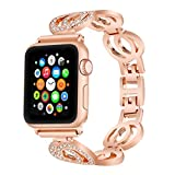 For Apple Watch Band, VOMA Stainless Steel Watch Band Replacement Strap for Both Apple Watch Series 1 and Series 2 - Style Classic Rose Gold 38mm