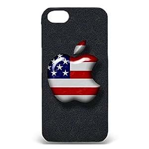 Apple Logo Cover Case Union Jack Design 3D Protective Case Snap on Iphone 5/5s Apple Logo