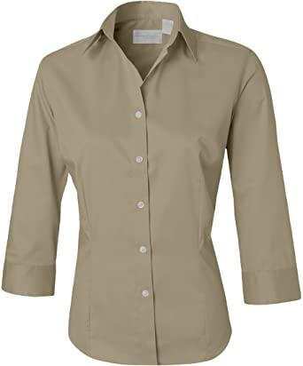 2df7f842405 Van Heusen Ladies  3 4-Sleeve Dress Twill - Sandstone V0527 S