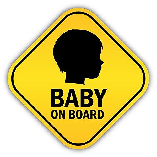 Baby On Board Silhouette Warning Sign Alta Calidad De Coche De Parachoques Etiqueta Engomada 12 x 12 cm LivGroup