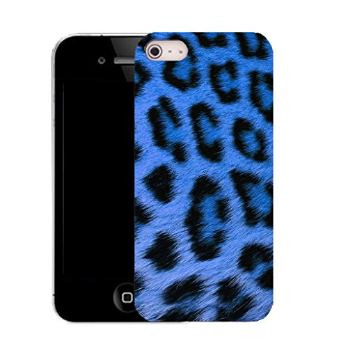 Mobile Case Mate iPhone 5c clip on Silicone Coque couverture case cover Pare-chocs + STYLET - BLUE LEOPARD pattern (SILICON)