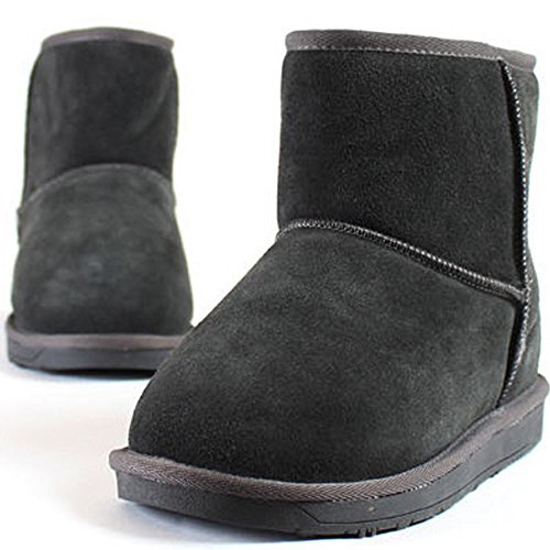 New Mooda Snow Winter Warm Womens Casual Leather Short Boots Shoes Gray 53Ahs7