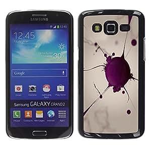 Be Good Phone Accessory // Dura Cáscara cubierta Protectora Caso Carcasa Funda de Protección para Samsung Galaxy Grand 2 SM-G7102 SM-G7105 // Blood Cell