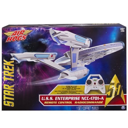 Star Trek U.S.S Enterprise NCC-1701-A, Remote Control Drone with Lights and Sounds, 2.4 GHZ (Star Trek Store)