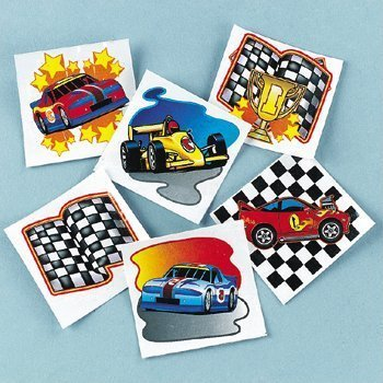 Fun Express Racing Tattoos (6 Dozen) (Pinata Racing Car)