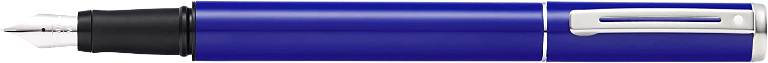 Sheaffer Pop Glossy Blue Fountain Pen with Chrome Trim and Medium Nib