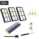 8PCS Replenishment Kit For iRobot Roomba 800/900 Series 860 870 880 960 980 Robotic Vacuum Cleaner,Replacement Parts With 3pcs Hepa filters and Side Brushes,2 Pair Debris Extractors