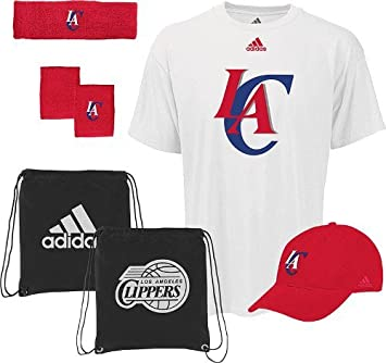 adidas Los Angeles Clippers NBA To the Court 5-Piece shirt camisa Hat Combo Pack