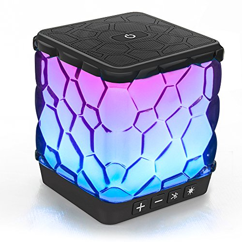 Price comparison product image AOMAIS Star Bluetooth Speakers, Wireless Ultra Portable Color Changing LED Light Speaker with 7 Color LED Themes for iPhone, iPad, Echo Dot, Tablets, Android (New)