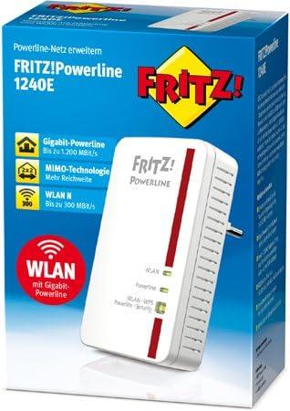 Avm Fritz Powerline 1240e Wireless Single 1200 Mbps 1x Elektronik