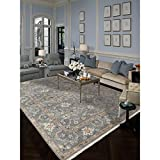Magi Hand-knotted Faith Foggy Grey New Zealand Wool Rug (4' x 6')