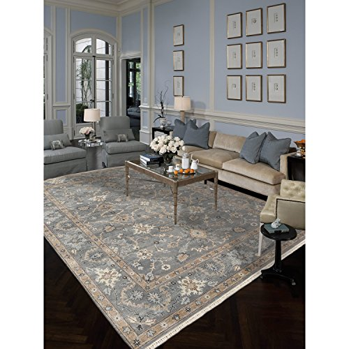 Magi Hand-knotted Faith Foggy Grey New Zealand Wool Rug (4' x 6') by Magi