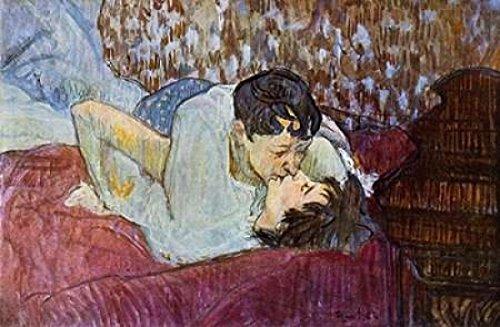 The Kiss Poster Print by Henri Toulouse-Lautrec (12 x 18)
