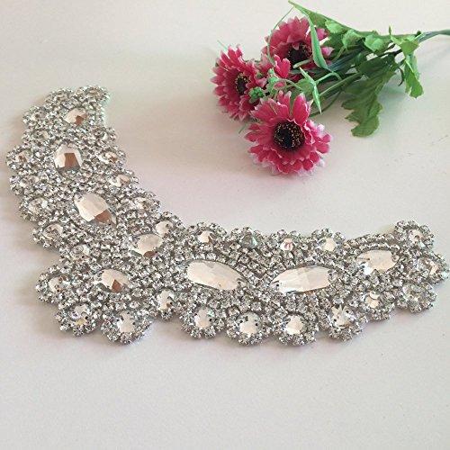 ShiDianYi Crystal Belt for Dress Crystal Trim for Wedding Dress Crystal Embellished Belts for Wedding~0926E