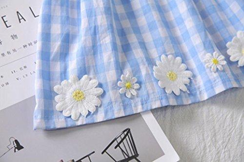 Neonate tubo estate Toddler Fiori Adeshop reticolato Top girasole Dress senza carino stampa Mini maniche casual abito di blu Girl elegante AtWAO6wq