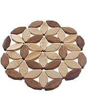 حامل خشبي مدور لاواني المطبخ 14 سم من دلس - خشبي