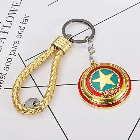 Llavero de metal con escudo del Capitán América de los ...