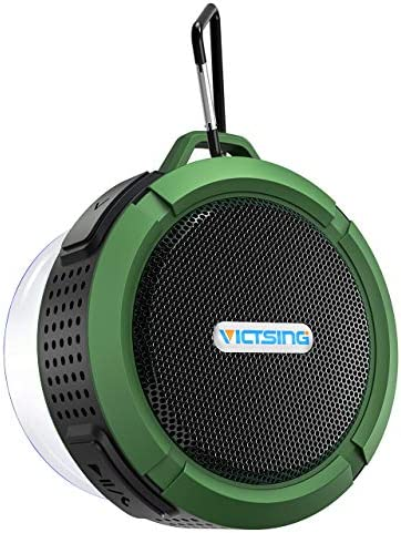 VicTsing Outdoor Waterproof Bluetooth Speaker, Mini Shower Speaker with Loud Stereo Sound ,Suction Cup and Hook, Portable Bluetooth Speaker Suitable for Travel, Beach,Pool,Sport, Climbing