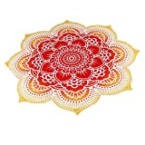 OVERMAL 2016 Round Beach Pool Home Shower Towel Blanket Table Cloth Yoga Mat (#4)