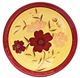pasta bowls tuscan - Tuscan Collection English Garden Deluxe Hand-Painted Ceramic Large Pasta Bowl, 84699 by ACK