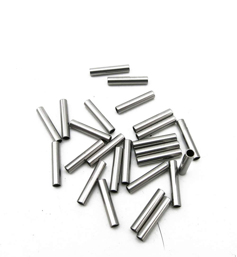 NW 20pcs 1.5x50mm Industrial Hollow Small Steel Tube Stainless Steel Mini Axle Sleeve Metal Axle Frame