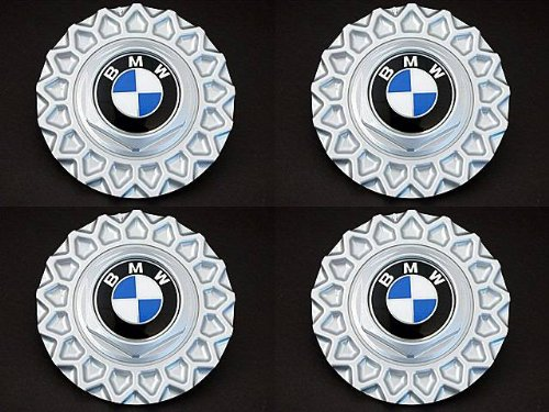 BMW (88-95 models) Wheel Center Caps (x4) BBS wheels (style 5) GENUINE