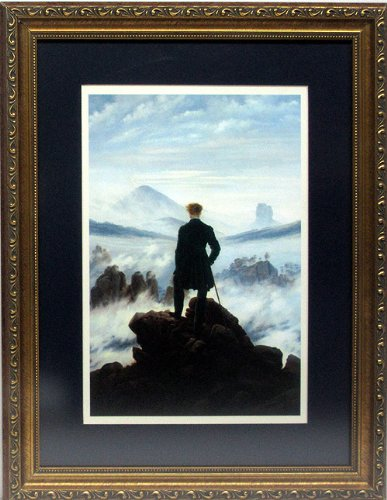 (Wanderer Above the Sea of Fog By Caspar David Custom Framed Art Print)
