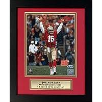 $229 » Joe Montana Autographed San Francisco 49ers Signed Football 8x10 Framed Photo Beckett BAS COA