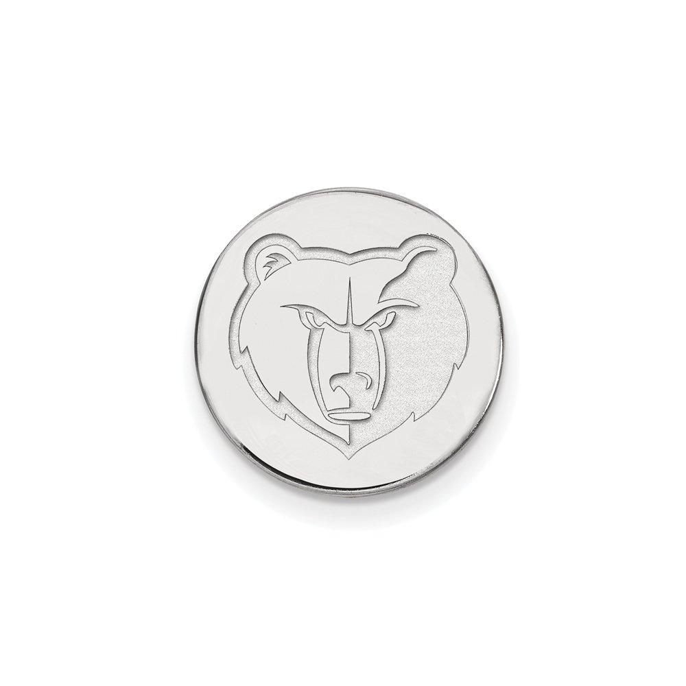 NBA Memphis Grizzlies Lapel Pin in 14K White Gold