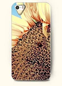 OOFIT phone case design with An insect in a sunflower for Apple iPhone 4 4s