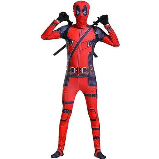 BLOIBFS Deadpool De Traje Disfraces Y Accesorios Disfraces Ninos Superheroes Disfraz De Halloween Máscara Espada Fiesta De Disfraces Disfraces ...