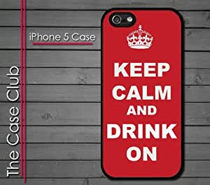 iPhone 5 Rubber Silicone Case - Keep Calm and Drink On Party Drinking