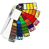 Watercolor Paint Set- 42 Colors,Artist's Tourist Watercolor Suit,Suitable for Field Painting,Coloring,Gift Travel Case