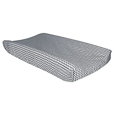 Bedtime Gray Chevron Changing Pad Cover: Baby