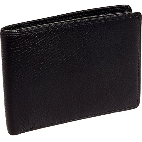 ross-michaels-mens-black-leather-bifold-wallet