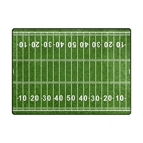 Cooper girl American Football Field kids Area Rug Learning Carpet for Living Room Bedroom 6'8