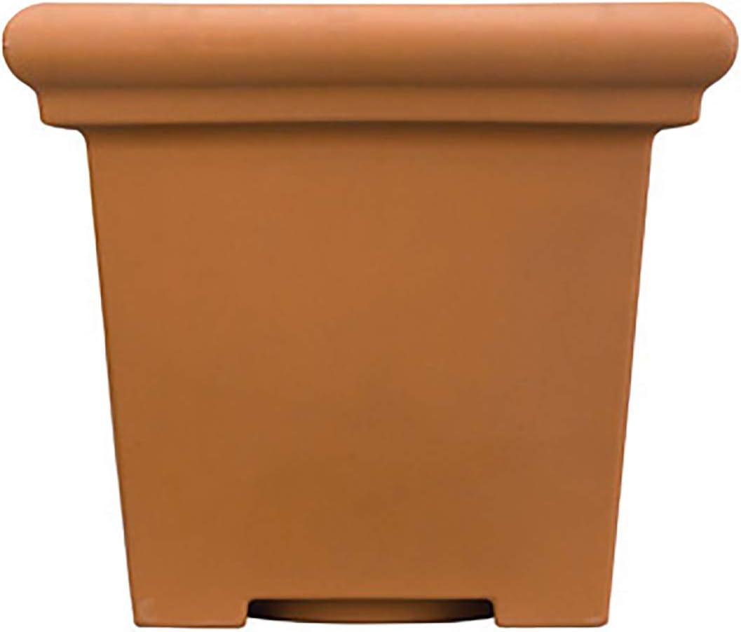 Akro Mils TES24000E35 24-Inch Terrazzo Square Pot, Terra Cotta