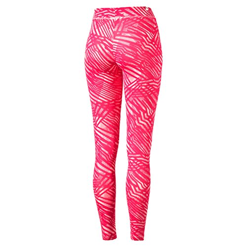 Puma Ess mallas para mujer W, mujer, Hose ESS Leggins W, Red - Rose Red/Peach/Pink Dogw/Aop, XL Red - Rose Red/Peach/Pink Dogw/Aop