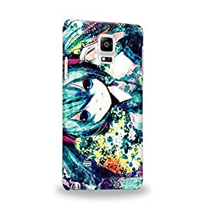 Case88 Premium Designs Vocaloid Miki Hatsune Miku 0977 Carcasa/Funda dura para el Samsung Galaxy Note 4
