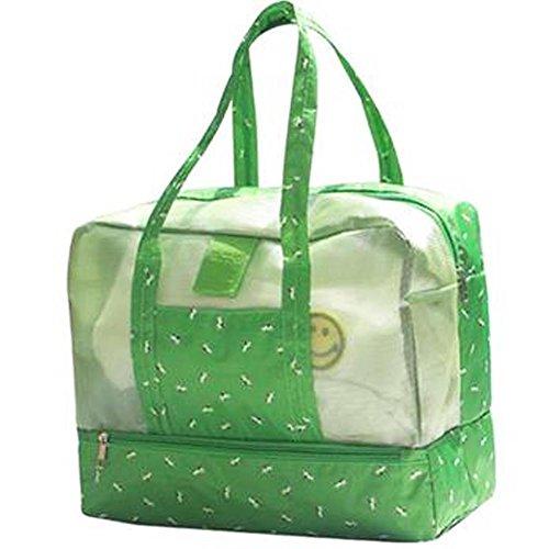 Wasserdichte Strandtasche Oversized Pockets Toy Tragetasche Grocery & Picknick Tote ,Grün