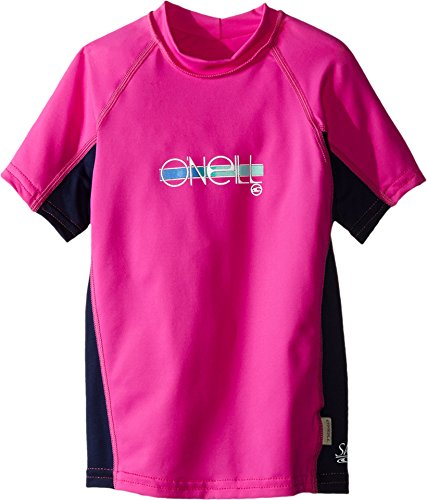 O'Neill Wetsuits Girls UV Sun Protection Skins Short Sleeve Crew Sun Shirt Rash Guard