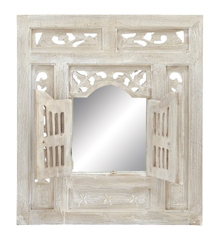 Deco 79 Deco Wood Mirror Decor, 28 by 24-Inch (Cole Wood Mirror)