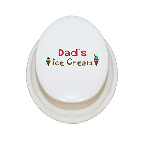 Amazon.com: Style In Print Personalized Custom Text Dads Ice Cream Porcelain Treasure Box Porcelain Jewerly Box - Square: Home & Kitchen